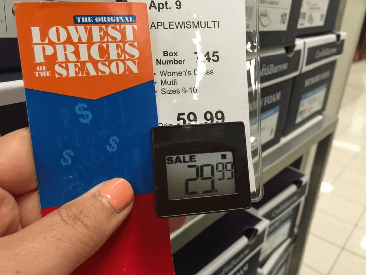 kohls price tag