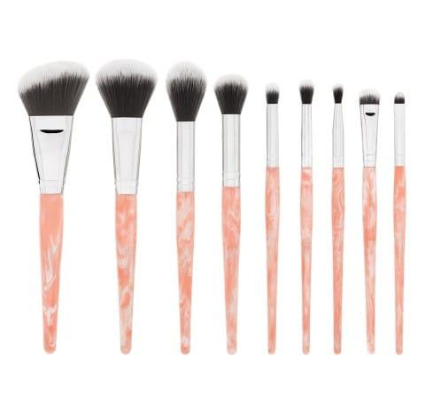 3. BH Cosmetics Rose Quartz 9-Piece Brush Set