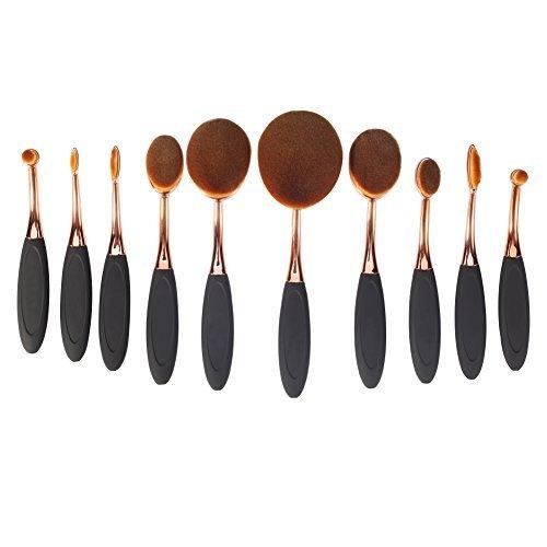 5.Yoseng Makeup Brushes 10-Piece Toothbrush Tool Set