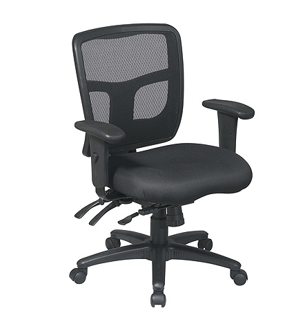 Office Star ProGrid Mid-Back Mesh Adjustable Chair