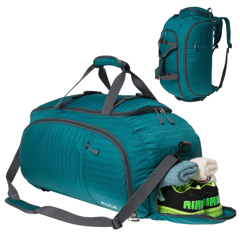 SKYLE 3-Way Travel Duffel Bag Backpack, Travel Luggage, Gym Sports Bag