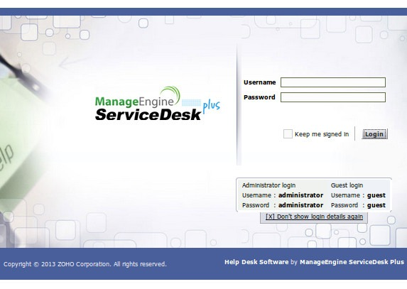 ManageEngine's ServiceDesk Plus