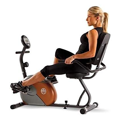 Marcy Recumbent Exercise Bike with Resistance ME709