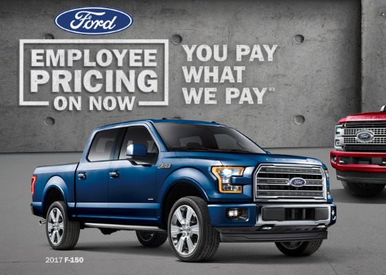 How much is the Ford employee discount