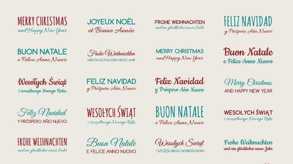Way to say Merry Christmas in Different Languages
