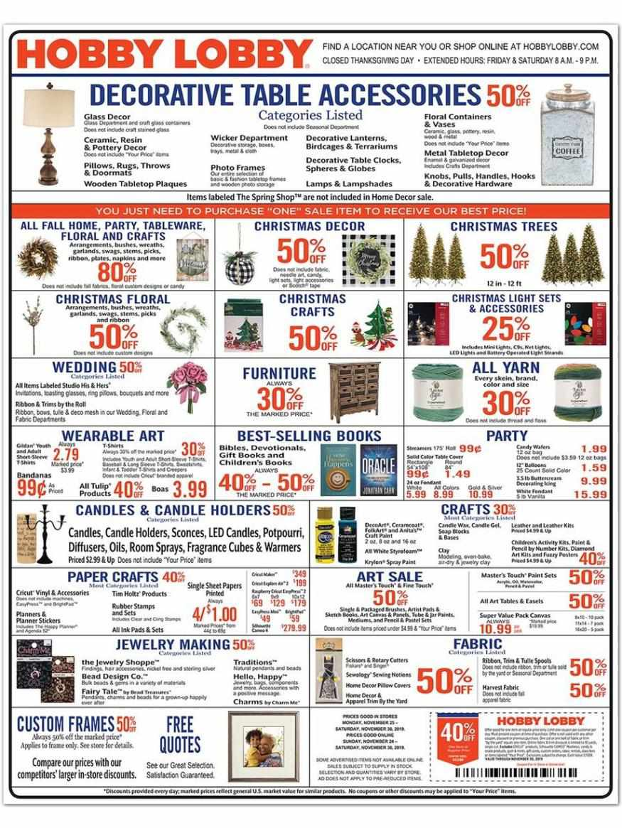 Hobby Lobby weekly ad for 18/10/2021-24/10/2021