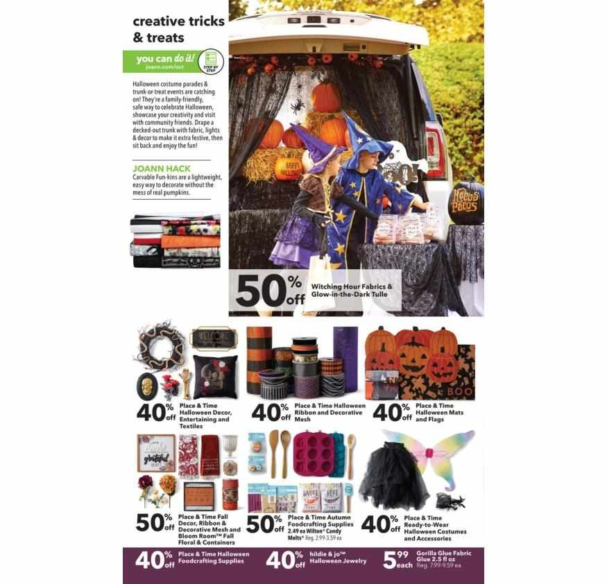 Joann weekly ad for 20/09/2021-26/09/2021