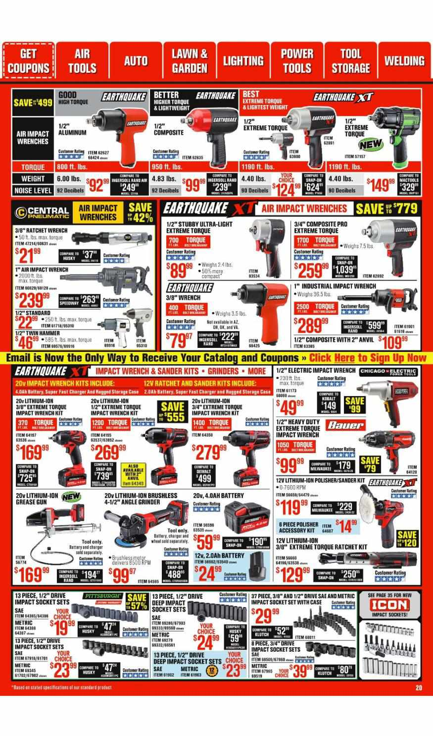Harbor Freight weekly ad for 18/10/2021-24/10/2021