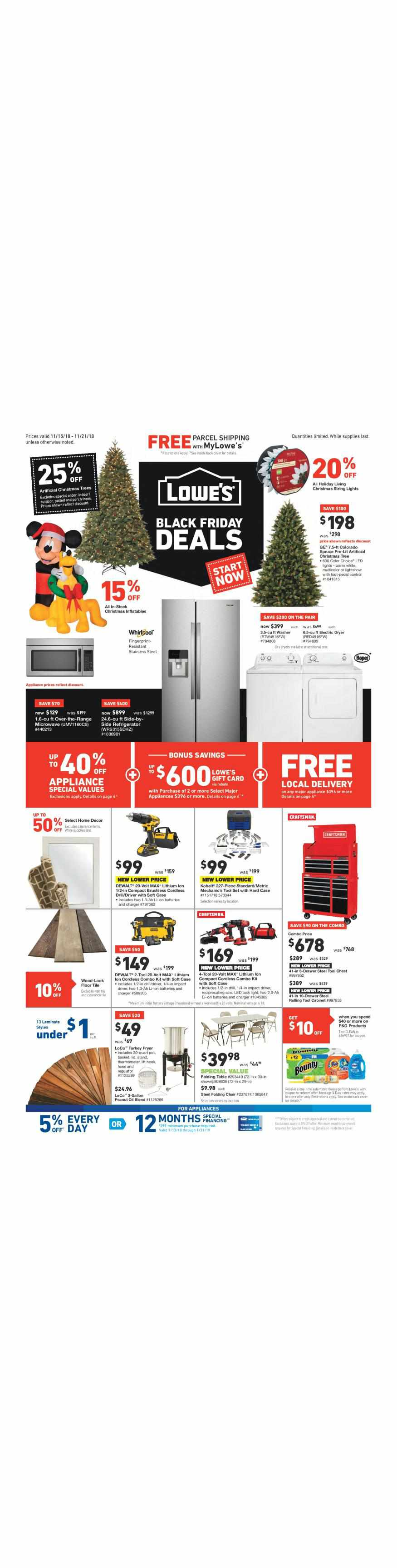 Lowe's weekly ad for 20/09/2021-26/09/2021