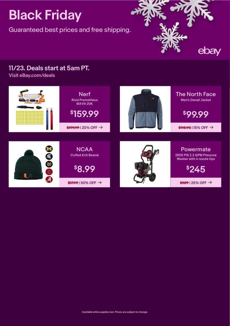 EBay black friday ad 2021