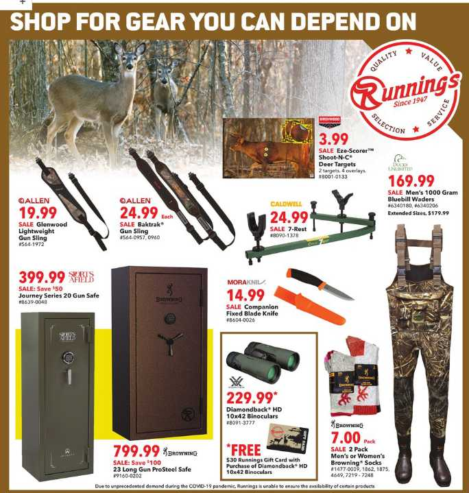 Runnings weekly ad for 18/10/2021-24/10/2021