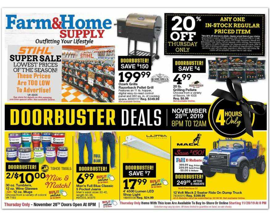 Farm and Home Supply Black Friday Ads , Weekly Ads ...