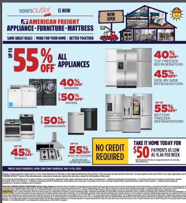 American freight weekly ad for 26/07/2021-01/08/2021