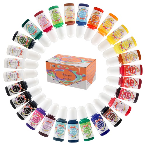 28colors Epoxy Resin Pigment 28bottles