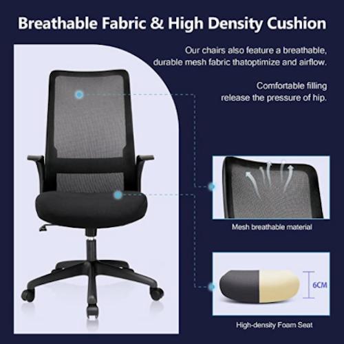 ComHoma Office Chair Ergonomic High Back Mesh Computer Chair Executive Desk Chair