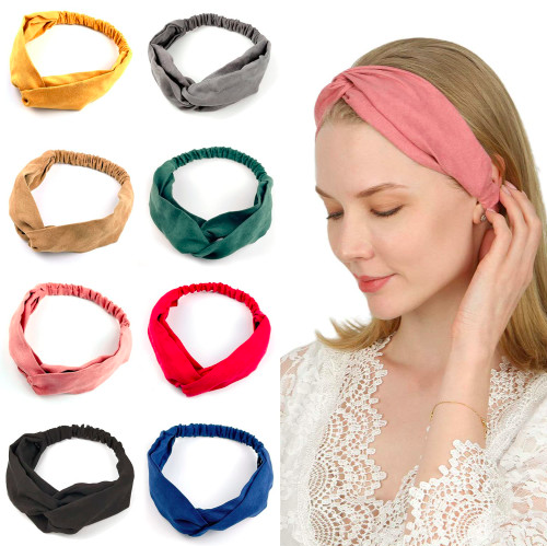 Get 30% Off Twisted Headbands for Women 8PC (5 Pattern Sets Available)