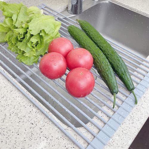 Get 20% Off Roll Up Dish Drying Rack Over The Sink for Kitchen