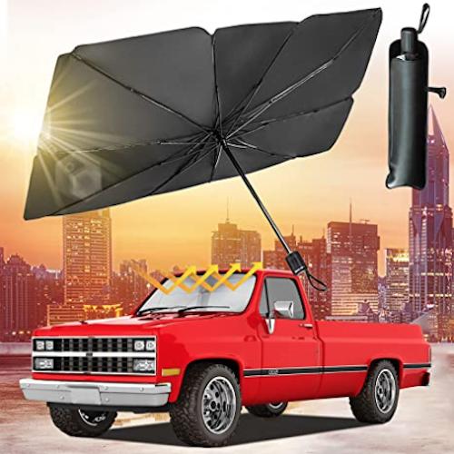 YOHIA Car Windshield Sun Shade Umbrella Collapsible