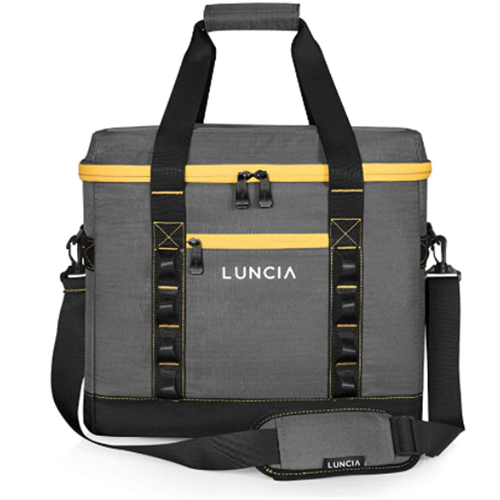 50.00% OFF LUNCIA Insulated Collapsible Large Cooler Bag 60-Can for Picnic Grocery Shopping Camping Travel