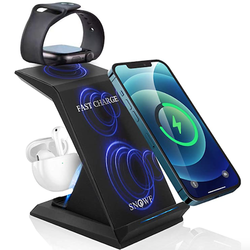 Wireless Charging Stand, 3 in 1 Wireless Charger 22W Fast Charging Station