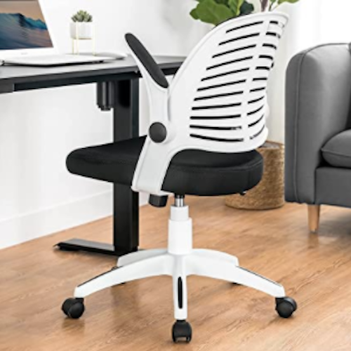 ComHoma Office Chair, Desk Chair with Flip-up Arms and Adjustable Height