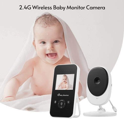 2.4G Wireless LCD Screen Night Light Supports Two-Way Talk/Lullabies Playing/Room Temperature Detection