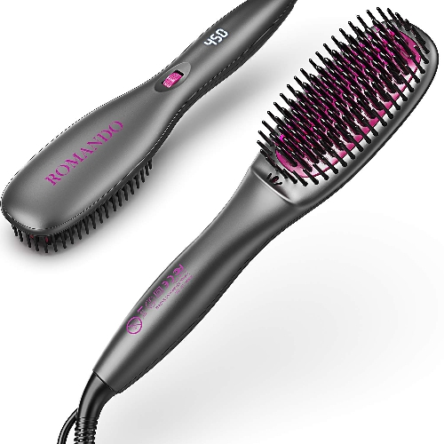 ROMANDO Hair Straightening Brush,Only $22.86 after 41% reduction