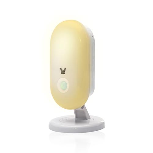 WFV Motion Sensor Night Light,360°Rotating Amber Motion Night Light with Stand,Dusk to Dawn Sensor,Warm White Light,24LM,Waterproof