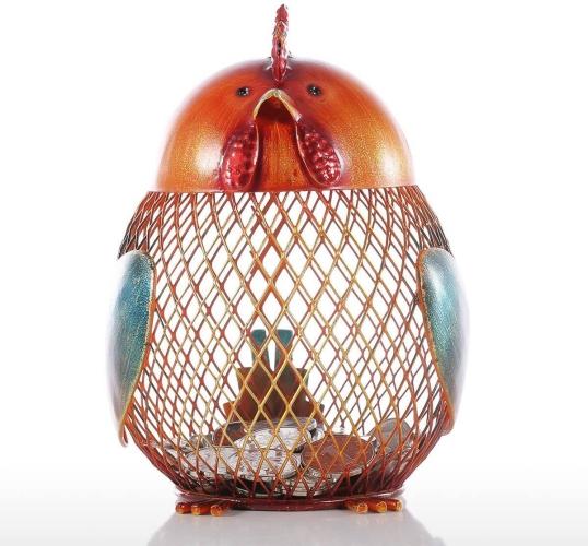 iron cock—Money Bank Practical Craft Home Decoration
