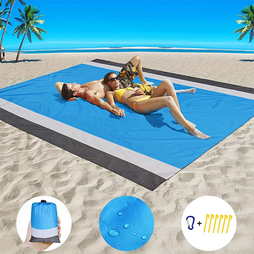 Beach Blanket Sand Proof Beach Mat Sand Free Extra Large Oversized for 4-7