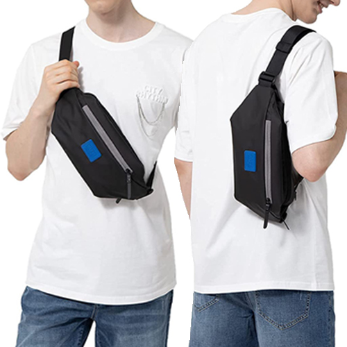COTS Water-resistant Waist Pack, Sling Backpack for Outdoors Traveling Running Hiking Cycling