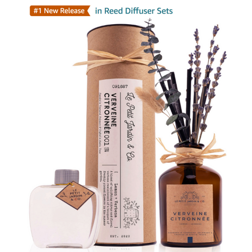 #1 NEW RELEASE on Amazon Le Petit Jardin & Co. Real Dried Flower Reed Diffuser