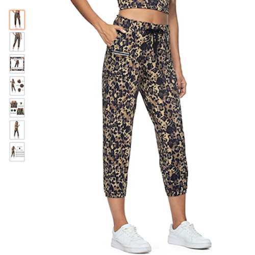 Jogger for women with reflective pocket