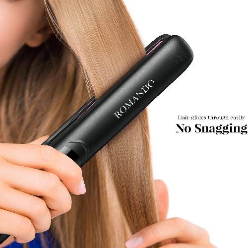 75%OFF!ROMANDO Hair Straightener, Professional Hair Straightener Flat Iron