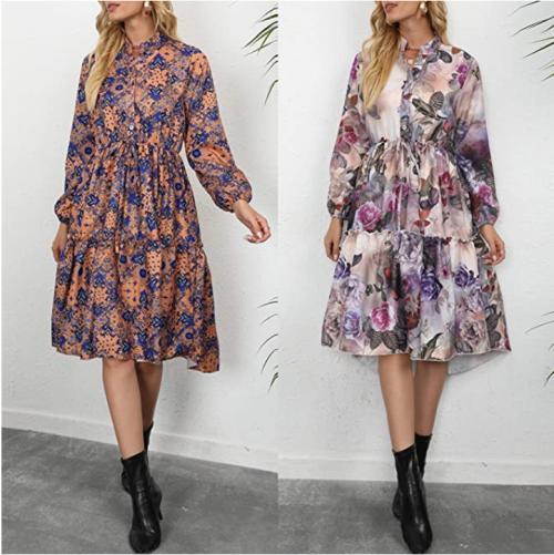 Women Floral Tie Dress