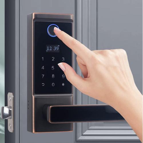 4 Unlock Ways Fingerprint Door Lock 50% OFF