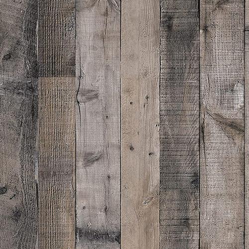 Gray Wood Wallpaper Wood Peel and Stick Wallpaper 17.7
