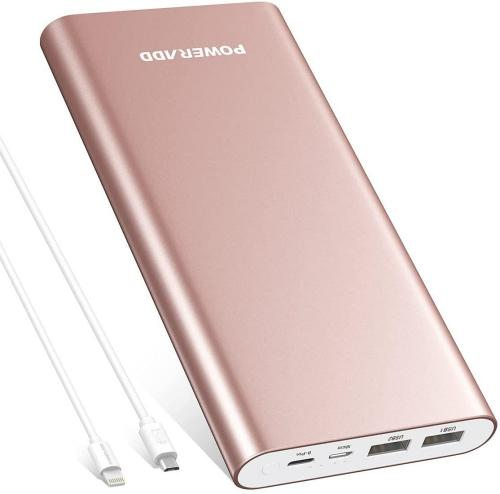 Pilot 4GS Plus Portable Charger,20000mAh High Capacity Portable Battery Dual 3A Output Power Bank Compatible with iPhone 12 11 Samsung S10 and More - Rose Gold