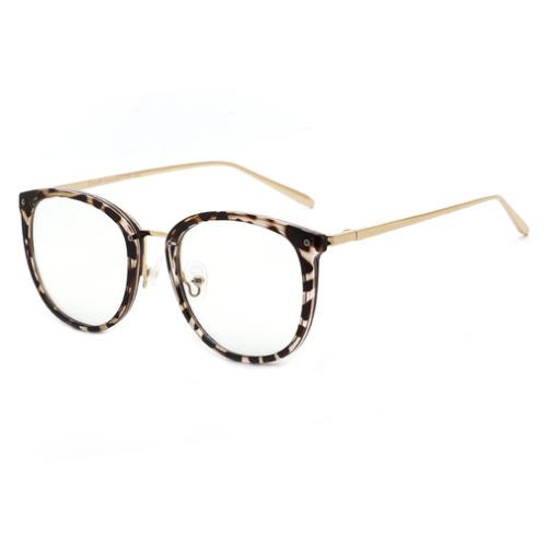 Cyxus TR90 Cat Eye Women Eyewear Frames Round Stylish Retro Metal Ultra Light Blue Light Glasses UV Blocking Eyeglasses