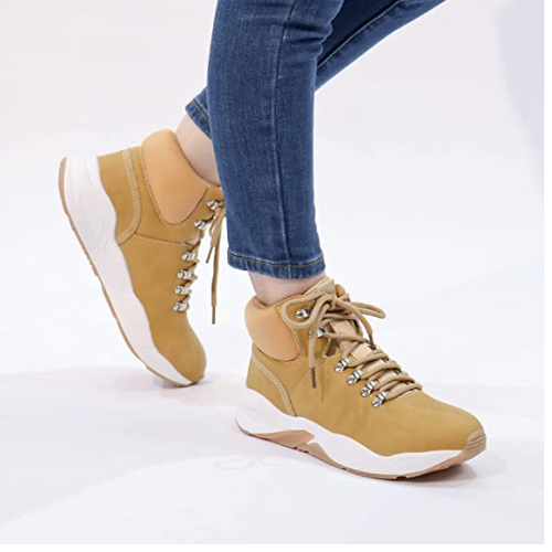Women Lace Up Work Combat Boots 50% off
