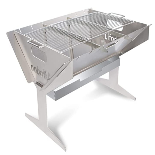Portable Charcoal Grill,Lifedoo Assembled-outdoor Grills 24-Inch 50% off