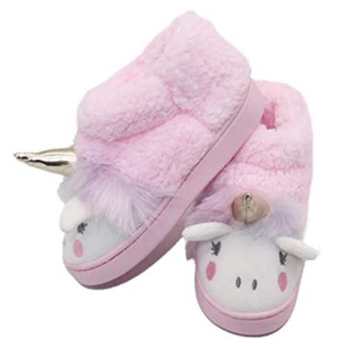 Girls Unicorn Slippers Toddler House Slippers Winter Home Indoor Shoes for Little/Big Kid 40% OFF