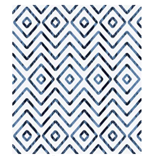 Blue Peel and Stick Wallpaper Geometric Removable Wallpaper 17.7