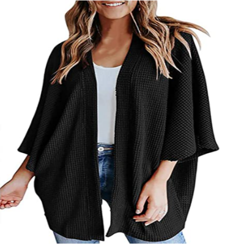 Women's Waffle Cardigan Sweater 50% off