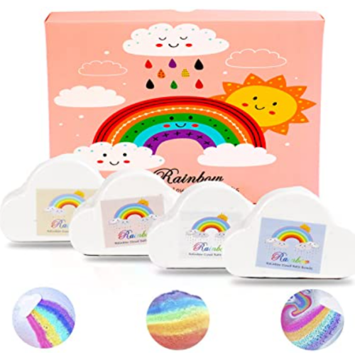 Rainbow Bath Bombs (4pcs) 50% off