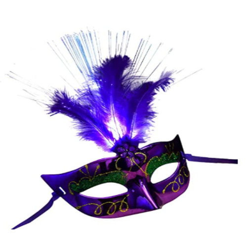 Sexy Lady Girl Women Lighted Venetian Feather Masks, Eyes Mask Costume-mask for Masquerade 40% off