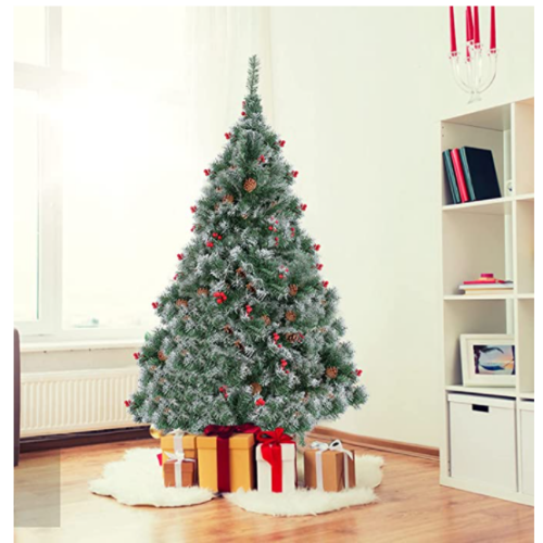 Vehpro Vehpro Flocking Snowflake Christmas Tree with Metal Base 50% off