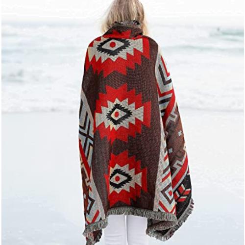 100% cotton Aztec warm blanket 40% off