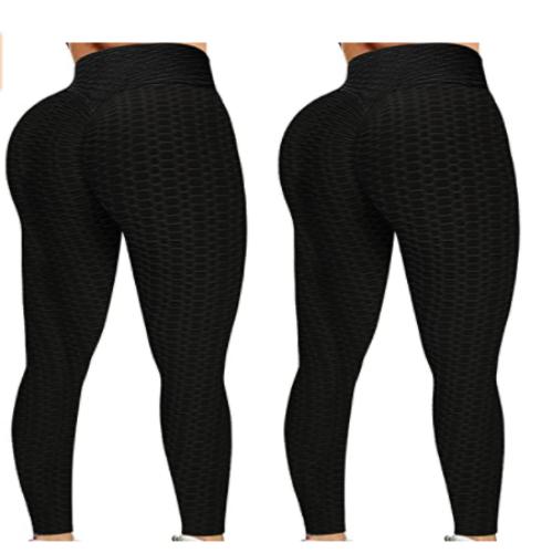 KTGIREM 2 Pack Leggings for Women High Waist TIK tok Leggings Tummy Control Booty Hip Lifting Workout Sport Tights Yoga Pants 65% OFF
