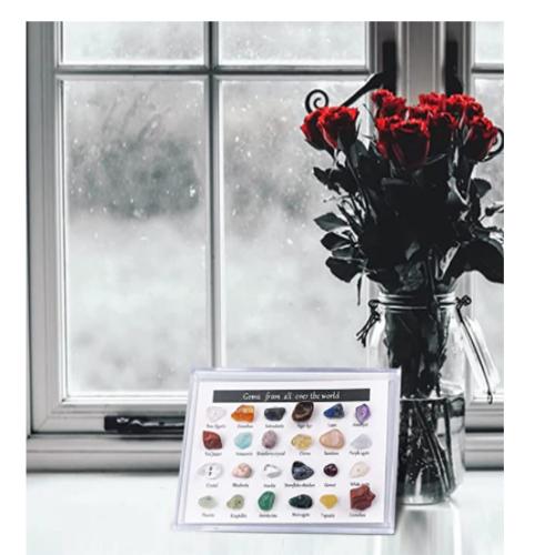 24 Pcs 2021 Advent Calendar Mini Size Natural Crystal Agate Stone Rocks 90% OFF